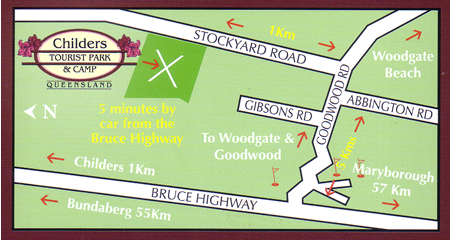 Childers Tourist Park and Camp directions